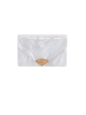 MICHAEL KORS - WHITE AND GOLD CLUTCH