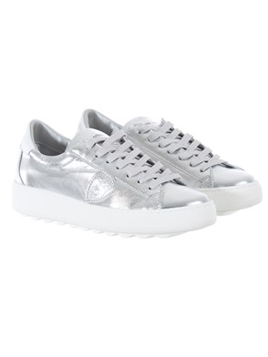 PHILIPPE MODEL - WHITE AND SILVER SNEAKERS