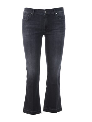 SEVEN FOR ALL MANKIND - JEANS, CROPPED BOOT UNROLLED, BLACK,