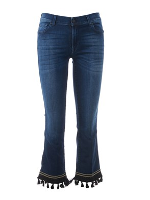 SEVEN FOR ALL MANKIND - JEANS, CROPPED BOOT, DARK,