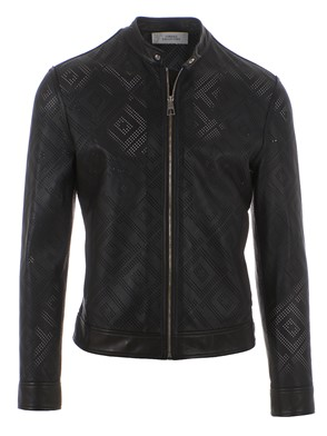 VERSACE COLLECTION - LEATHER BOMBER JACKET