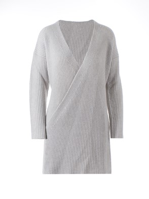 AGNONA - GREY CARDIGAN