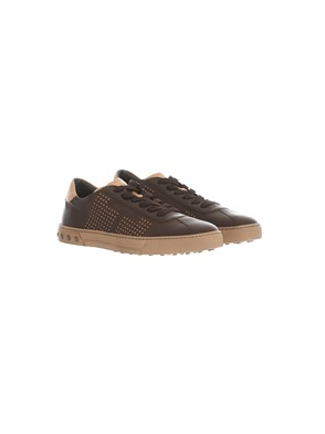 TOD'S - BEIGE AND BROWN SNEAKERS