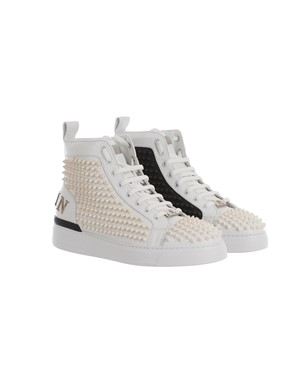 PHILIPP PLEIN - BLACK AND WHITE HIGH-TOP SNEAKERS