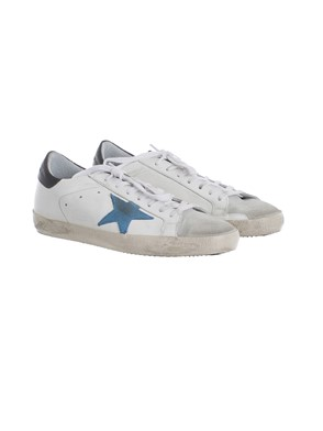 GOLDEN GOOSE - BLACK AND WHITE SNEAKERS