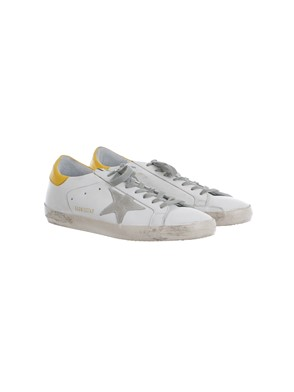 GOLDEN GOOSE - WHITE, YELLOW AND GREY SNEAKERS