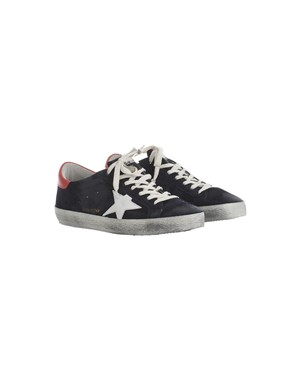 GOLDEN GOOSE - REDAND BLACK SNEAKERS