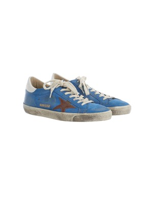 GOLDEN GOOSE - LIGHT BLUE SNEAKERS