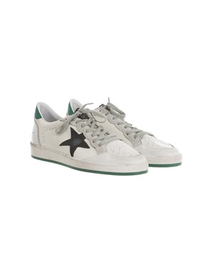 GOLDEN GOOSE - GREEN, BLACK AND WHITE SNEAKERS