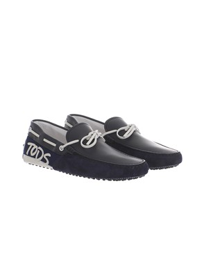 TOD'S - BLUE AND WHITE LOAFERS