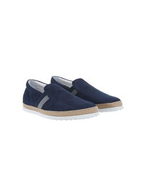 TOD'S - BLUE SLIP-ONS