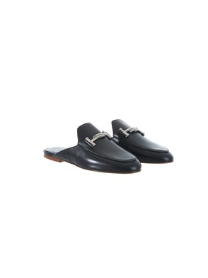 TOD'S - BLACK SLIPPERS
