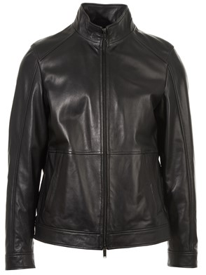 MICHAEL KORS - JACKET LEATHER 001 BLACK