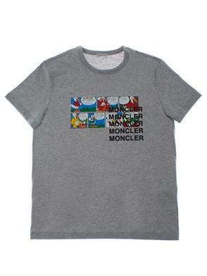 MONCLER - T-SHIRT GRIGIO