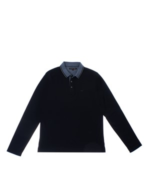 MICHAEL KORS - BLUE, WHITE AND LIGHT BLUE POLO SHIRT