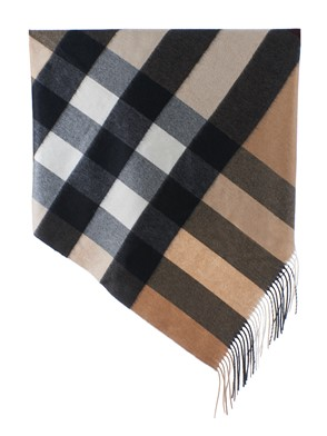 BURBERRY - BEIGE, BLACK AND WHITE SHAWL