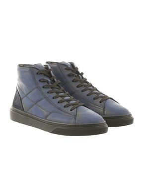 HOGAN - HOGAN H340 HI TOP BLU