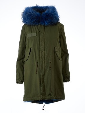 MR & MRS ITALY - PARKA ARMY BLU COYOTE