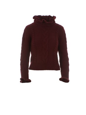 SEE BY CHLOE' - PULLOVER IN LANA BORDEAUX