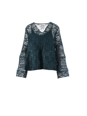 SEE BY CHLOE' - TOP, (GREEN)