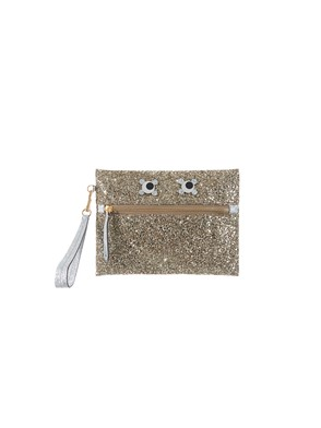 ANYA HINDMARCH - GOLD POUCH