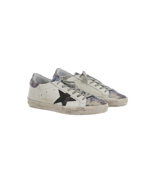 GOLDEN GOOSE - WHITE, BLACK AND GREY SNEAKERS