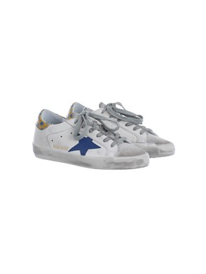GOLDEN GOOSE - YELLOW, BLUE AND WHITE SNEAKERS