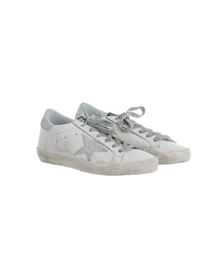 GOLDEN GOOSE - SILVER WHITE SNEAKERS