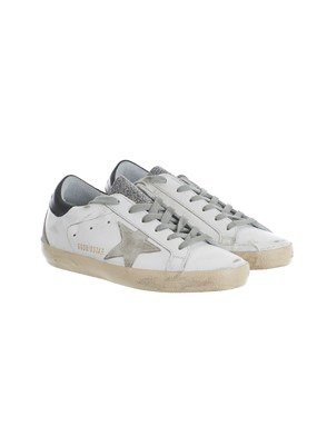 GOLDEN GOOSE - GREY, BLACK AND WHITE SNEAKERS