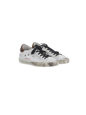 GOLDEN GOOSE - BLACK AND WHITE ANIMAL PRINT SNEAKERS