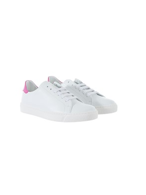 ANYA HINDMARCH - PINK AND WHITE SNEAKERS