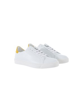 ANYA HINDMARCH - YELLOW AND WHITE SNEAKERS