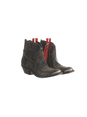 GOLDEN GOOSE DELUXE BRAND - RED AND BLACK BOOTS