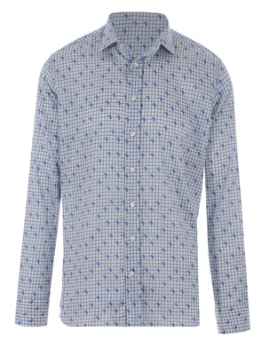 ETRO - LIGHT BLUE AND BLUE PAISLEY SHIRT