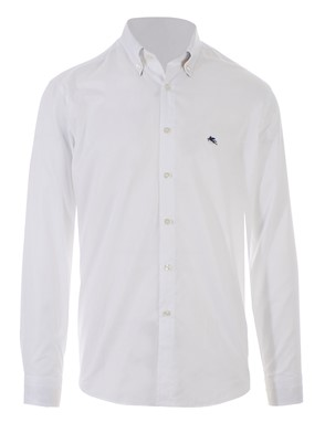 ETRO - WHITE EMBELLISHED SHIRT