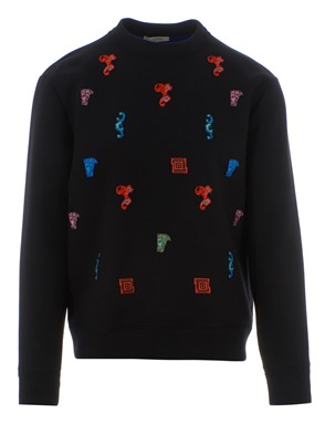VERSACE - BAROQUE PATCH SWEATSHIRT