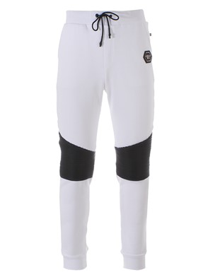 PHILIPP PLEIN - WHITE JOGGING PANTS