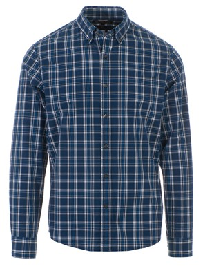 MICHAEL KORS - PLAID BLUE SHIRT