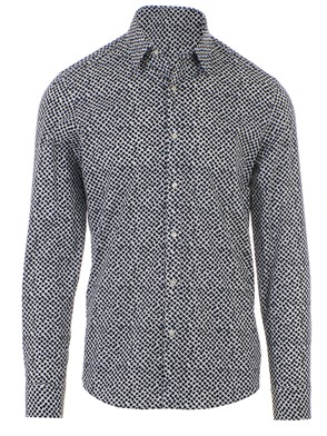 MICHAEL KORS - PETROL BLUE PATTERN SHIRT