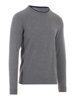 MICHAEL KORS - GREY AND BLUE COTTON PULLOVER