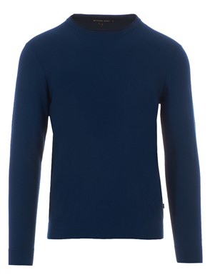 MICHAEL KORS - PULLOVER IN COTONE ADMIRAL BLU