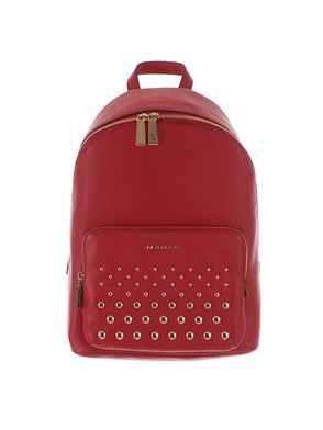 MICHAEL KORS - RED STUDDED BACKPACK