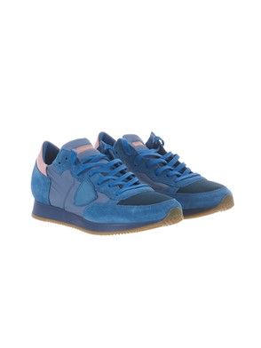 PHILIPPE MODEL - BLUE AND LIGHT BLUE TROPEZ SNEAKER
