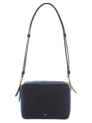 ANYA HINDMARCH - STACK DOUBLE BAG BLU e AZZURRA