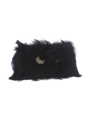 ANYA HINDMARCH - CREEPER INK SHEARLING CLUTCH