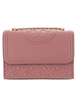 TORY BURCH - BORSA A TRACOLLA FLEMING ROSA MINI