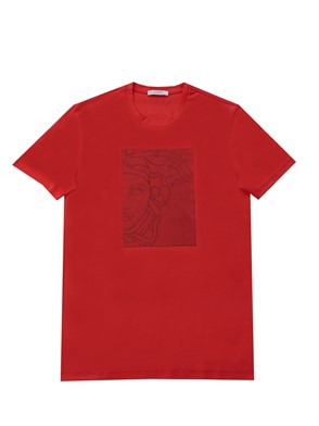 VERSACE COLLECTION - RED LOGO T-SHIRT