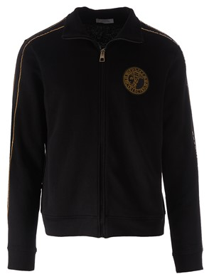 VERSACE - SWEATSHIRT WITH GOLD INSERTS