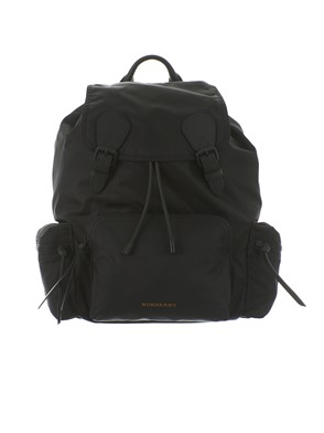 BURBERRY - NYLON AND LEATHER THE RUCKSACK BACKPACK