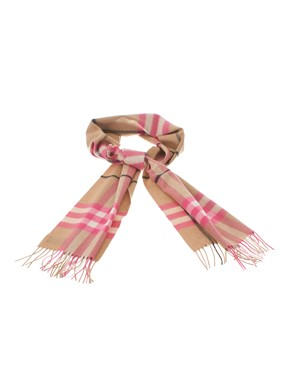BURBERRY - SCIARPA IN CASHMERE FLUO PEONY